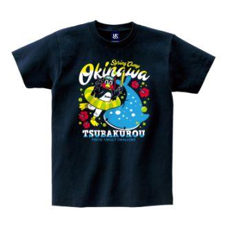 ヤクルト沖縄モチーフ×ロゴTシャツ